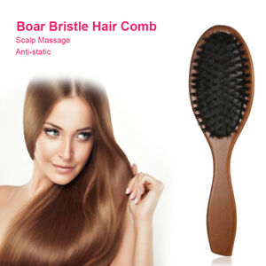 Wooden Handle Natural Boar Bristle Hair Comb Hair Styling Hairdressing tool