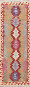 NEW Decorative Flat-weave 7 ft Turkish Kilim Rug Runner Vegetable Dye Wool 2'x7'