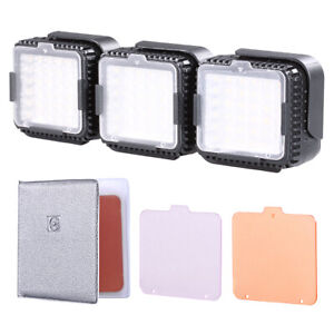 3pcs CN-LUX360 5400K on-Camera Dimmable LED Video Light Lamp for Canon Nikon