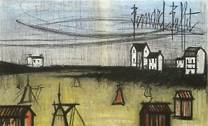 Bernard BUFFET quot;A Small Beachquot; original lithograph $199.99