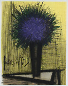 Bernard Buffet quot;Purple Bouquetquot; original lithograph $199.99