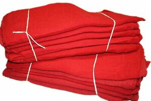 Pro's Choice Red Auto Mechanic Rags (Pack of 50) Shop Towels (13 x 13 In... New