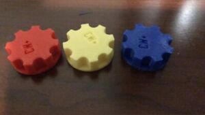 3 Red Powder Measure Knobs dillon Reloading