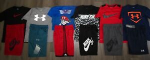 Lot 13 Boy's UNDER ARMOUR Adidas NIKE SB Dri-Fit Shirts Shorts YMD Medium 1012