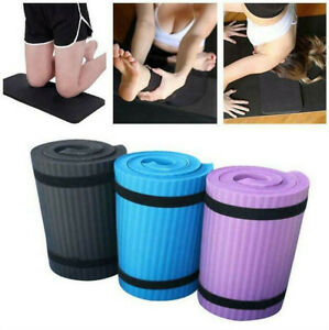 60x25cm Yoga Mat 15mm Thick Gym Exercise Fitness Pilates NonSlip Mat