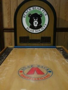 Custom Black Bears Pub SnapBack ShuffleBoard Great Condition
