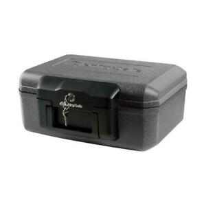 Fire Resistant Chest Safe Box Durable Fireproof Safety Privacy Key Lock Small