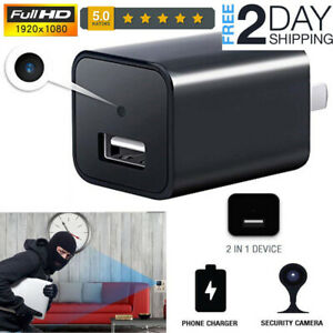 Full HD 1080P Wall Charger Hidden Camera Mini WiFi Motion USB Power Adapter