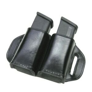 Stallion Leather MHE-1 Dual Double Stack 45 Cal Pistol Magazine Pouch Holder