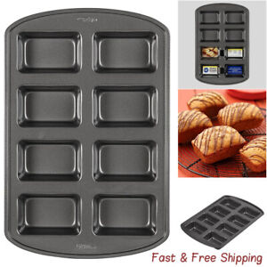 Perfect Results Non-Stick Mini Loaf Pan8-Cavity For Baking Breads Cakes