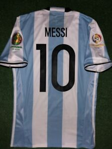MESSI ARGENTINA MATCH UN WORN SHIRT FINAL COPA AMERICA 2016 CENTENARIO