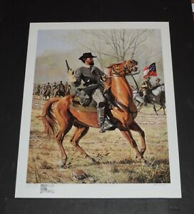 David Wright Forrest At Shiloh A P Hand Remarqued Civil War Print $495.00