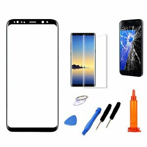 Black Replacement Screen Glass Lens+ Repair Tool Kit For Samsung Galaxy Note 8