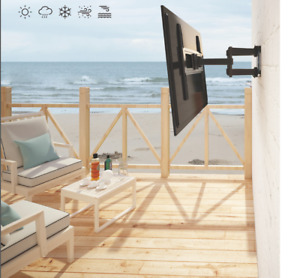 Outdoor Anti-Theft Full Motion Weatherproof TV Wall Mount for Most 32 - 70 HDTV