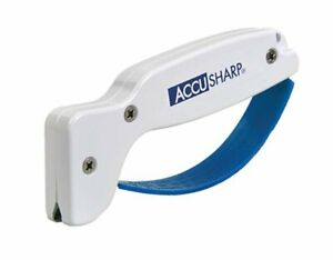 AccuSharp Classic Regular Knife & Tool Sharpener, White/Blue #001C