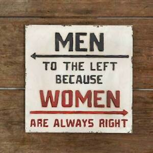 quot;Always Rightquot; Metal Wall Sign $32.95