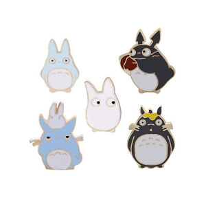 5pcs Anime My Neighbor Totoro Metal Badge Button Pin Brooch Cosplay Gifts