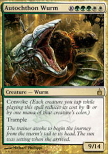 MTG magic cards 1x x1 Light Play, English Autochthon Wurm Ravnica