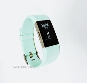 Fitbit Charge 2 Heart Rate Fitness Sleep Tracker Teal Large Grade A