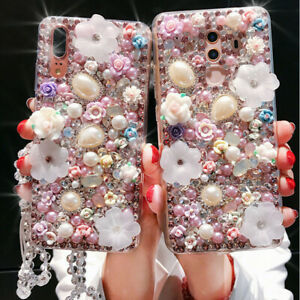 3D Bling luxury Crystals Personalized Soft clear Cover Case For Samsung