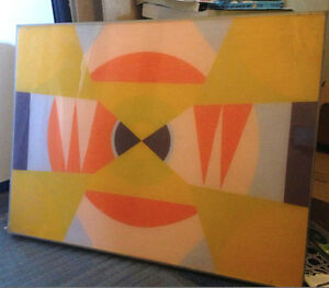 LEE PEARLSON California Op Art Geometric Painting Contemporary of NORMAN ZAMMITT
