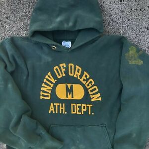 VTG 70s champion reverse weave hooded sweatshirt University of Oregon UO UofO.