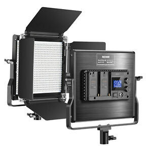 660 Beads CRI 96+ LED Video Light Dimmable Bi-Color LED Panel with LCD Screen