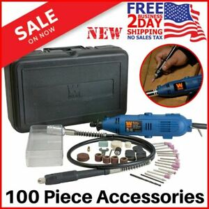 100 Piece Dremel Tool Kit Set Variable Speed Rotary Grinder Cutter Accessories