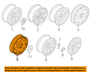 FORD OEM Wheel-Compact Spare 8A5Z1007D
