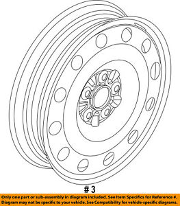 FORD OEM Wheel-Compact Spare AE9Z1007E