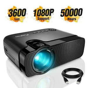 Mini Projector ELEPHAS 3300 Lux Portable Home Theater Projector Support ... New
