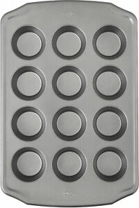 Non Stick Muffin baking Tray 12 Cup Steel Metal Pastry Prep Pan Cupcake Holder