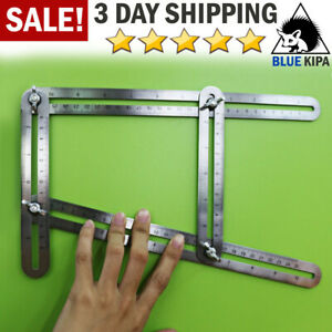 Heavy Duty Stainless Steel Angularizer Template Tool Multi Angle Measuring Ruler $8.99