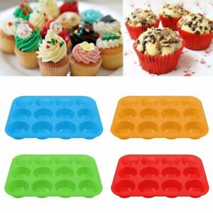 DIY Silicone Non Stick 12 Cups Muffin Pan Cupcake Tray Cake Baking Mold SS