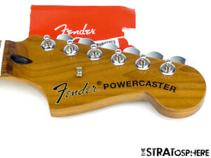 2019 Fender Powercaster NECK & TUNERS C-Shape Guitar Roasted Maple Pau Ferro