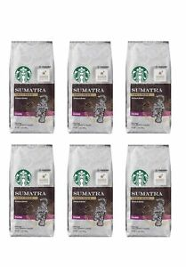 Starbucks Sumatra Roast Dark Ground Coffee 12 Oz Each (6-Pack) 4/2020