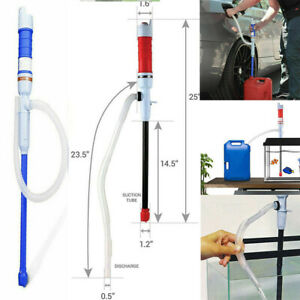 Liquid Fuel Syphon Pump Automatic Transfer Gas Oil Water Battery Electric Supply