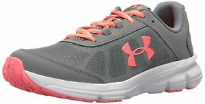 Under Armour Girls Youth UA GGS Rave 2 GrayPink Running Lace Up Shoes 3000148