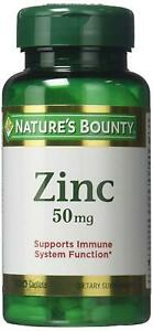 Natures Bounty Zinc Supports Immune Function 50 mg