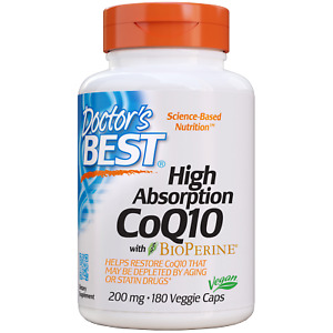 Doctor's Best High Absorption CoQ10 200 mg 180 Veggie Caps