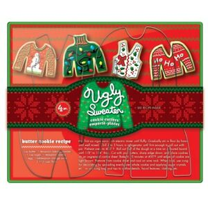Ugly Sweater Cookie Cutter Set of 4 by Fox Run stainless steel free shipping