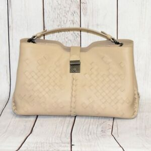 BOTTEGA VENETA INTRECCIATO CAMERA BAG SHOULDER BAG HANDBAG TAUPE WOVEN LEATHER