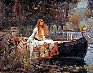 Lady of Shalott by John Waterhouse. Life Art Repro Made in U.S.A Giclee Prints $17.20