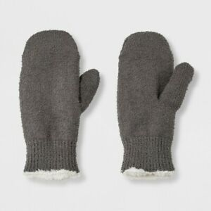 Isotoner Women#x27;s Recycled Yarn Fleece Lined Mitten Grey One Size Fits Most $5.99
