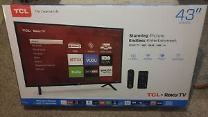TCL 43S517 43 in LED Roku Smart TV