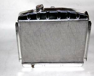 POLISHED ALUMINUM RADIATOR Fit 1955 1956 1957 CHEVY BEL AIR V8 3 Cores