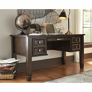 Ashley Furniture Signature Design H63627 Townser Home Office Desk Grayish Brown