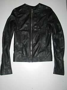 NWT RICK OWENS BIKER BLACK LEATHER JACKET sz 4636 made in Italy