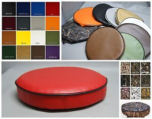 Bar Stool Cover pub kitchen snack replacement  vinyl or camo  in 25 colors (W)