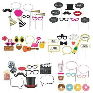 10-Piece Photo Props For Party - Theme Variety